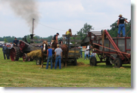 Threshing wheat at Darke County, Ohio, July 2009